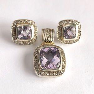 Jewelry - Tanzanite Diamond 14k And Sterling Jewelry Set